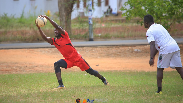 Winfred Honu returns to training after missing the WAFA clash in Sogakope.