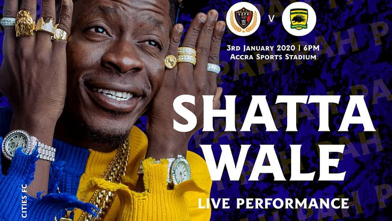 Shatta Wale Performs At the First Home Match of Legon Cities FC