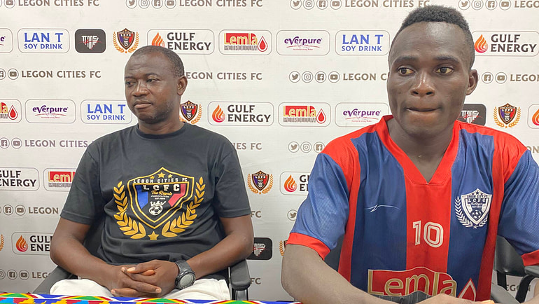 Wahid Mohammed and Jonah Attuquaye reacts to the 2-0 win against Aduana Stars