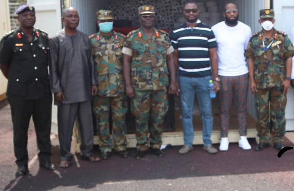 Legon Cities make donations to 37 Military Hospital in fight against COVID-19