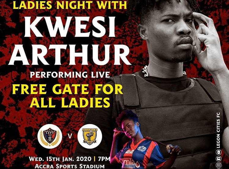 Kwesi Arthur Set To Perform At The Game Between Legon Cities Football Club And Ahanti Gold